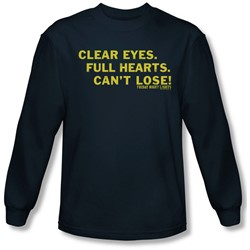 Friday Night Lights - Mens Clear Eyes Long Sleeve Shirt In Navy