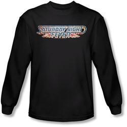 Saturday Night Fever - Mens Logo Long Sleeve Shirt In Black