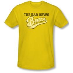 Bad News Bears - Mens Logo T-Shirt In Yellow