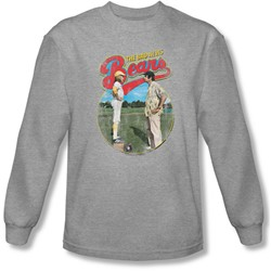Bad News Bears - Mens Vintage Long Sleeve Shirt In Heather