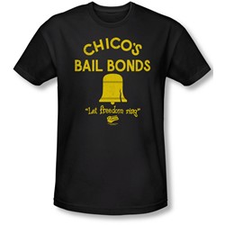 Bad News Bears - Mens Chico'S Bail Bonds T-Shirt In Black