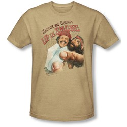 Up In Smoke - Mens Rolled Up T-Shirt In Sand
