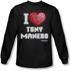 Saturday Night Fever - Mens I Heart Tony Long Sleeve Shirt In Black