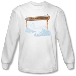 Its A Wonderful Life - Mens Bedford Falls Long Sleeve Shirt In White