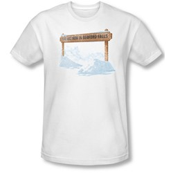 Its A Wonderful Life - Mens Bedford Falls T-Shirt In White