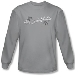 Its A Wonderful Life - Mens Logo Long Sleeve Shirt In Silver