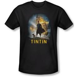 Tintin - Mens Poster T-Shirt In Black