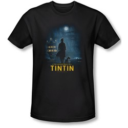 Tintin - Mens Title Poster T-Shirt In Black