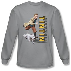 Tintin - Mens Come On Snowy Long Sleeve Shirt In Silver