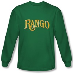 Rango - Mens Logo Long Sleeve Shirt In Kelly Green
