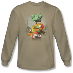 Rango - Mens Poster Art Long Sleeve Shirt In Sand