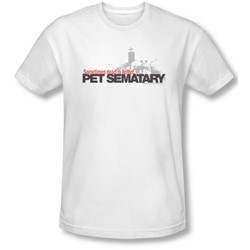Pet Sematary - Mens Logo T-Shirt In White