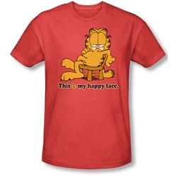 Garfield - Mens Happy Face T-Shirt In Red