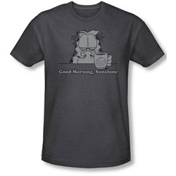 Garfield - Mens Good Morning Sunshine T-Shirt In Charcoal