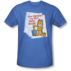 Garfield - Mens Duly Noted T-Shirt In Royal