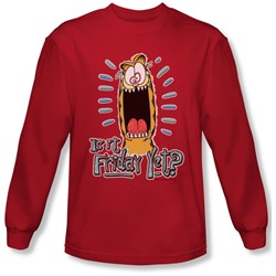 Garfield - Mens Friday Long Sleeve Shirt In Red