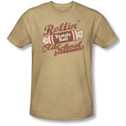 Tootsie Roll - Mens Old School T-Shirt In Sand