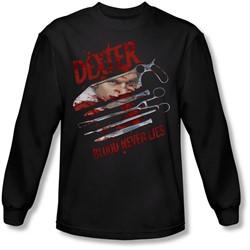 Dexter - Mens Blood Never Lies Long Sleeve Shirt In Black