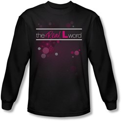 The Real L Word - Mens Flashy Logo Long Sleeve Shirt In Black