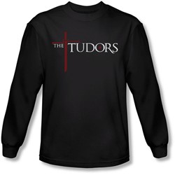 Tudors - Mens Logo Long Sleeve Shirt In Black