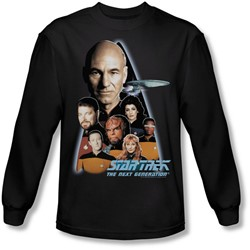 Star Trek - Mens The Next Generation Long Sleeve Shirt In Black