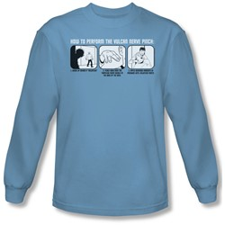 St:Original - Mens Vulcan Nerve Pinch Long Sleeve Shirt In Carolina Blue