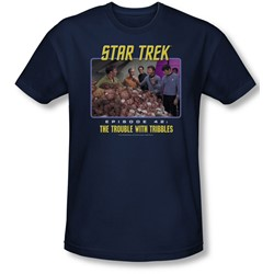 St:Original - Mens The Trouble With Tribbles T-Shirt In Navy