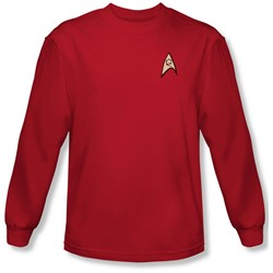 Star Trek - Mens Engineering Uniform Long Sleeve Shirt In Red
