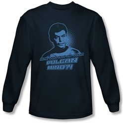 Star Trek: The Original Series - Mens Vulcan Mind Long Sleeve Shirt In Navy