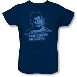 Star Trek: The Original Series - Womens Vulcan Mind T-Shirt In Navy