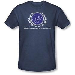 Star Trek - Mens United Federation Logo T-Shirt In Navy