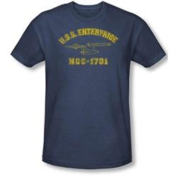 Star Trek - Mens Enterprise Athletic T-Shirt In Navy