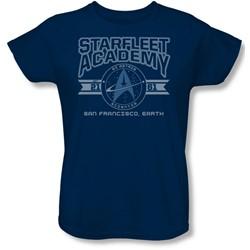 Star Trek - Womens Starfleet Academy Earth T-Shirt In Navy