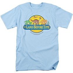 Land Before Time - Mens Dino Breakout T-Shirt In Light Blue