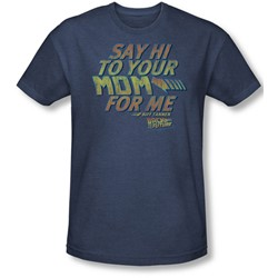 Back To The Future - Mens Say Hi T-Shirt In Navy