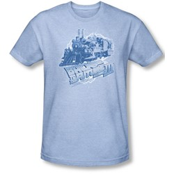 Back To The Future Iii - Mens Time Train T-Shirt In Light Blue
