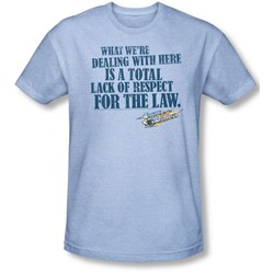 Smokey And The Bandit - Mens Lack Of Respect T-Shirt In Light Blue