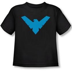 Batman - Toddler Nightwing Symbol T-Shirt In Black
