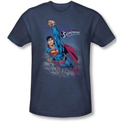 Superman - Mens Twilight Flight T-Shirt In Navy
