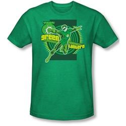 Dc Comics - Mens Green Lantern T-Shirt In Kelly Green