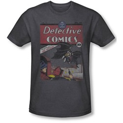 Dc Comics - Mens Detective #27 Distressed T-Shirt In Charcoal