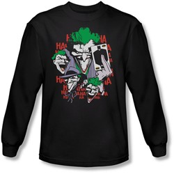 Dc Comics - Mens Four Of A Kind Long Sleeve Shirt In Black