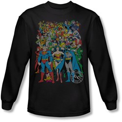 Dc Comics - Mens Original Universe Long Sleeve Shirt In Black