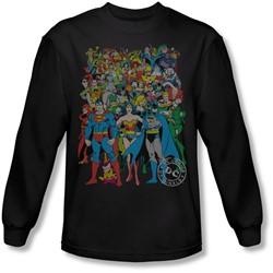 Dc Comics - Mens Original Universe Long Sleeve Shirt In Black