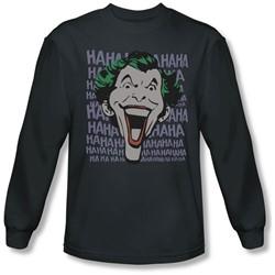 Dc Comics - Mens Dastardly Merriment Long Sleeve Shirt In Charcoal