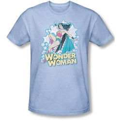 Dc Comics - Mens I'M Wonder Woman T-Shirt In Light Blue