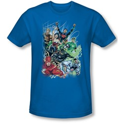 Justice League, The - Mens Justice League #1 T-Shirt In Royal