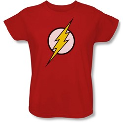 Justice League, The - Womens Flash Logo T-Shirt In Red