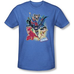 Justice League, The - Mens Unlimited T-Shirt In Royal
