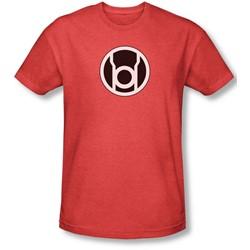 Green Lantern - Mens Red Lantern Logo T-Shirt In Red
